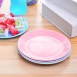 炫彩塑料餐具小碟子 零食瓜子平底盘子小吃碟 粉色 600个/箱