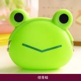 卡通大号硬币包 随身迷你小包钥匙包 硅胶女零钱包 绿青蛙 600个/箱