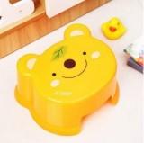 儿童凳子婴儿宝宝动物卡通造型加厚塑料换鞋凳小板凳 小熊