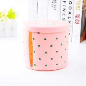清新简约办公室客厅卷纸收纳盒抽纸盒纸巾抽 圆形粉色 100个/箱