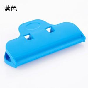 多彩塑料强力封口夹食品袋零食封口夹子大号保鲜密封夹 蓝色  500一箱