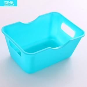 迷你桌面收纳盒塑料长方形书桌整理盒收纳置物盒 蓝色 720个/箱