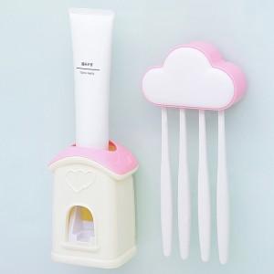 爱情公寓可拆洗魔力贴自动挤牙膏器 牙膏屋--粉色