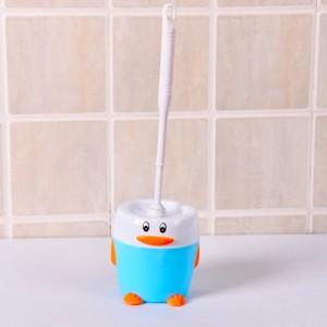 创意可爱卡通企鹅马桶刷套装 卫生间厕所清洁刷底座 蓝色