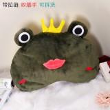 新款带拉链可拆洗双插手电热水袋 防爆暖手宝 皇冠动物 墨绿青蛙