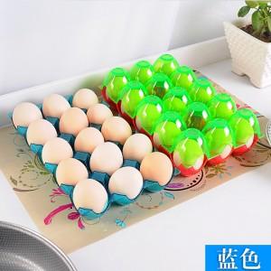 加厚可叠加15格鸡蛋收纳盒 放鸭蛋保护托 冰箱防碎鸡蛋盒 蓝色 120/箱