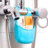 居家创意厨房水槽挂袋沥水篮 浴室置物架收纳挂袋JY006(单个装) 蓝色