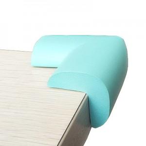 婴儿安全防撞角加厚加长桌角保护套宝宝防护角 8个装 蓝绿