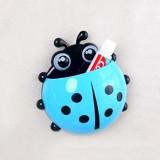创意瓢虫强力吸盘牙膏牙刷架(蓝色)OPP袋 400个/箱