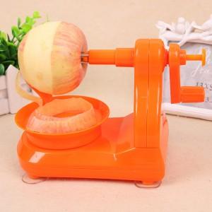 苹果削皮器 手动水果削皮机-橙色