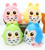 创意儿童存钱罐猫头鹰存钱罐防摔礼品韩国创意生日礼物   绿色