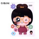 可爱卡通韩式彩色防水马桶贴 装饰贴纸 墙贴 萌小M 100个一捆
