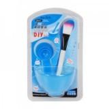 DIY美容四件套面膜碗+面膜棒+面膜刷+计量器 蓝色