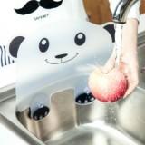 厨房用可爱熊猫造型水池挡水板 创意双吸盘水槽防溅水板   蝴蝶结  400一件