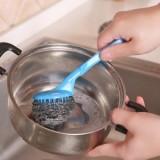 彩袋装 厨房长柄锅刷可挂式强力去污洗碗清洁刷子可换不锈钢丝球 蓝色 500个/箱