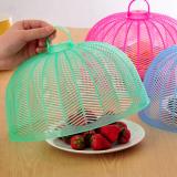 塑料防蝇防蚊迷你菜罩饭菜罩食物罩桌罩盖 透明绿 300个/箱