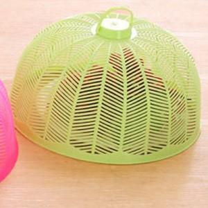 塑料防蝇防蚊迷你菜罩饭菜罩食物罩桌罩盖 实色黄绿 300个/箱