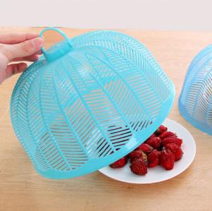 塑料防蝇防蚊迷你菜罩饭菜罩食物罩桌罩盖 实色蓝 300个/箱