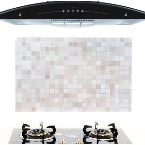 马赛克 耐高温厨房防油贴纸  油烟机防水瓷砖贴 橱柜贴纸 灰白色