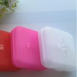 四分格迷你药盒 便携式随身创意4格小药盒提醒药盒 药品收纳盒子   白色