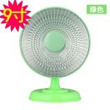 冬季必备 高品质带底座9寸小太阳电暖风机/迷你桌面取暖器 绿色 36个/箱