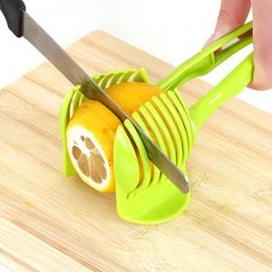 柠檬切片器 厨房水果分割器 多功能食品夹 绿色 200个/箱