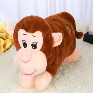 新款电热水袋 防爆卡通充电暖手宝 拜年系列  咖啡猴
