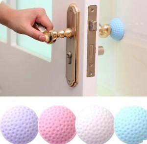 加厚静音门后墙面防撞垫高尔夫球造型橡胶防碰垫   蓝色   500个一件