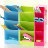 塑料抽屉储物格桌面箱遥控器化妆品杂物4格收纳盒 大号 绿色