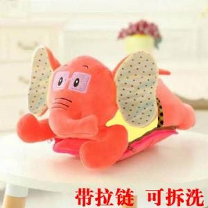 新款带拉链可拆洗双插手电热水袋 防爆暖手宝 大福象-橘色