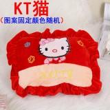 新款电热水袋 防爆卡通充电暖手宝  绣花抱枕混色   KT猫
