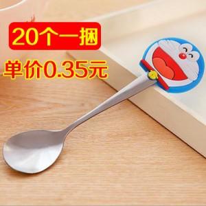可爱卡通不锈钢长柄勺子餐具咖啡搅拌勺 机器猫 20个一捆 150捆/箱