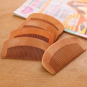 天然桃木梳子 加厚密齿梳美发梳子圆齿木梳子  2560一件