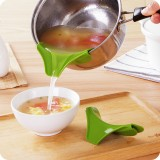 创意厨房防洒漏锅具圆口边缘导流器液体导流嘴倒汤水器