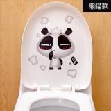 可爱卡通韩式彩色防水马桶贴 装饰贴纸 墙贴 熊猫 100个一捆