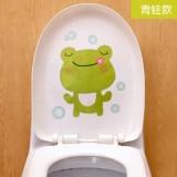 可爱卡通韩式彩色防水马桶贴 装饰贴纸 墙贴 青蛙 100个一捆