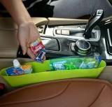 汽车大号压缩座椅夹缝杂物垃圾收纳盒车载手机储物置物盒 绿色