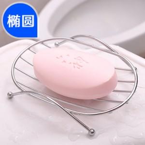 简约不锈钢肥皂架沥水香皂架 浴室皂盒皂托 椭圆形 300个/箱
