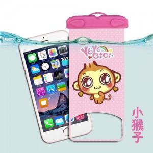 卡通手机防水袋 苹果手机漂流袋 漂流游泳防水包 小猴