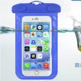 阀门式超强密封手机防水袋游泳 手机防水套 夹子式防水包 深蓝