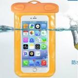 阀门式超强密封手机防水袋游泳 手机防水套 夹子式防水包 橙色