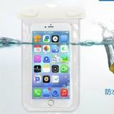 阀门式超强密封手机防水袋游泳 手机防水套 夹子式防水包  白色