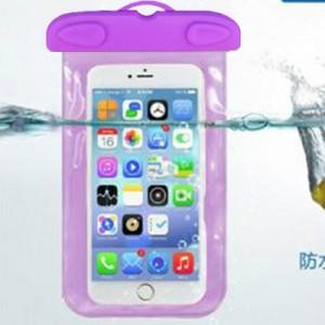 阀门式超强密封手机防水袋游泳 手机防水套 夹子式防水包 紫色
