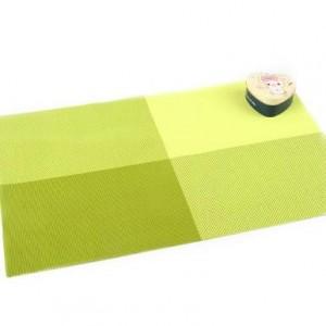 PVC餐垫 隔热垫 4色方格(田字格) 绿色 300个/箱