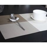 PVC餐垫 隔热垫 4色方格(田字格) 灰白色 300个/箱