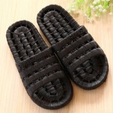 夏季镂空底塑料拖鞋 情侣浴室漏水凉拖洗澡拖鞋 黑色 60个/箱