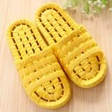 夏季镂空底塑料拖鞋 情侣浴室漏水凉拖洗澡拖鞋 黄色 80个/箱