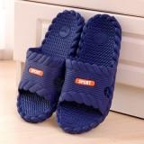 夏季凉拖鞋浴室防滑家居情侣麻花边塑料拖鞋 深蓝 60个/箱