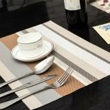 PVC餐垫 隔热垫 彩色横条纹款 条纹灰 300个/箱