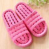夏季镂空底塑料拖鞋 情侣浴室漏水凉拖洗澡拖鞋 玫红 80个/箱
